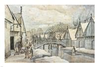 A Street in Jisp on a Winter's Day Fine-Art Print