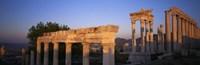 Turkey, Pergamum, temple ruins Fine-Art Print