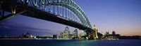Low angle view of a bridge, Sydney Harbor Bridge, Sydney, New South Wales, Australia Fine-Art Print
