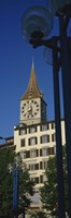 Low angle view of a clock tower, Zurich, Canton Of Zurich, Switzerland Fine-Art Print