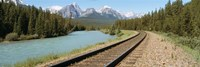 Railroad Tracks Bow River Alberta Canada Fine-Art Print