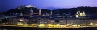Austria, Salzburg, Salzach River at dusk Fine-Art Print