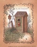 Old Backhouse Framed Print