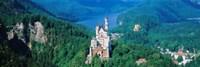 High angle view of a castle, Neuschwanstein Castle, Bavaria, Germany Fine-Art Print