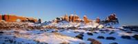 Rock formations on a landscape, Arches National Park, Utah, USA Fine-Art Print
