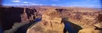 Muleshoe Bend at a river, Colorado River, Arizona, USA Fine-Art Print