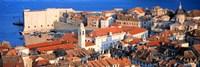 Aerial View, Old Town, Dubrovnik, Croatia Fine-Art Print