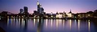Skyline In Evening, Main River, Frankfurt, Germany Fine-Art Print