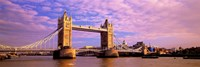 Tower Bridge London England with Purple Sky Fine-Art Print