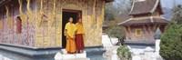Monks Wat Xien Thong Luang Prabang Laos Fine-Art Print