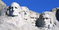 Mount Rushmore in White Fine-Art Print