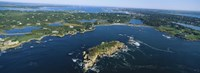 Aerial view of an island, Newport, Rhode Island, USA Fine-Art Print
