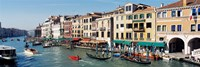 High angle view of a canal, Grand Canal, Venice, Italy Fine-Art Print