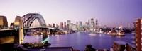 Bridge over an inlet, Sydney Harbor Bridge, Sydney, New South Wales, Australia Fine-Art Print