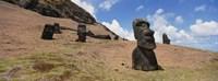 Close Up of Moai statues, Easter Island, Chile Fine-Art Print