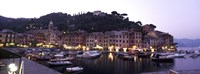 Boats at a harbor, Portofino, Genoa, Liguria, Italy Fine-Art Print