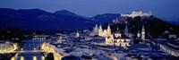 High Angle View Of Buildings In A City, Salzburg, Austria Fine-Art Print