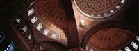 Turkey, Istanbul, Suleyman Mosque, interior domes Fine-Art Print