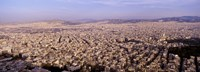 Aerial view of a city, Athens, Greece Fine-Art Print