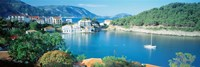 High Angle View Of A Town On The Waterfront, Cephalonia, Greece Fine-Art Print