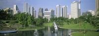 Park In The City, Petronas Twin Towers, Kuala Lumpur, Malaysia Fine-Art Print
