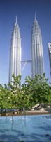 Malaysia, Kuala Lumpur, View of Petronas Twin Towers Fine-Art Print