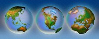 Close-up of three globes Fine-Art Print