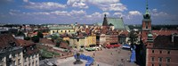 High angle view of a market square, Warsaw, Silesia, Poland Fine-Art Print