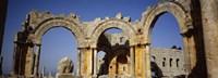 Old ruins of a church, St. Simeon Church, Aleppo, Syria Fine-Art Print