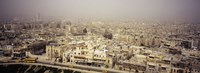 Aerial view of a city in a sandstorm, Aleppo, Syria Fine-Art Print