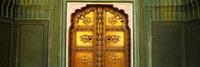 Close-up of a closed door of a palace, Jaipur City Palace, Jaipur, Rajasthan, India Fine-Art Print