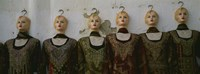 Group of mannequins in a market stall, Tripoli, Libya Fine-Art Print