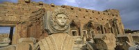 Statue in an old ruined building, Leptis Magna, Libya Fine-Art Print