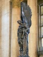 Close-up of a war memorial statue at a railroad station, 30th Street Station, Philadelphia, Pennsylvania, USA Fine-Art Print