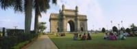 Tourist in front of a monument, Gateway Of India, Mumbai, Maharashtra, India Fine-Art Print