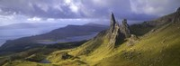 Rock formations on hill, Old Man of Storr, Isle of Skye, Scotland Fine-Art Print