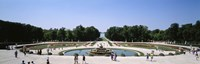 Tourists around a fountain, Versailles, France Fine-Art Print