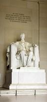 Abraham Lincoln's Statue in a memorial, Lincoln Memorial, Washington DC, USA Fine-Art Print