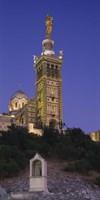 Low angle view of a tower of a church, Notre Dame De La Garde, Marseille, France Fine-Art Print