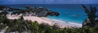 High angle view of a beach, Bermuda Fine-Art Print