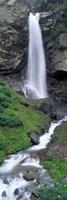 Waterfall in a forest, Sass Grund, Switzerland Fine-Art Print