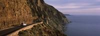 Car on the mountainside road, Mt Chapman's Peak, Cape Town, Western Cape Province, South Africa Fine-Art Print