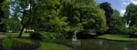 Trees in a park, Queen Astrid Park, Bruges, West Flanders, Belgium Fine-Art Print