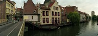 Buildings at the waterfront, Patershol, Ghent, East Flanders, Flemish Region, Belgium Fine-Art Print