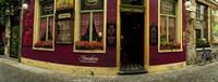 Facade of a restaurant, Patershol, Ghent, East Flanders, Flemish Region, Belgium Fine-Art Print