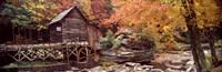 Glade Creek Grist Mill with Autumn Trees, Babcock State Park, West Virginia Fine-Art Print