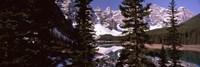 Lake andf mountains, Alberta, Canada Fine-Art Print