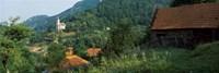 Houses at the hillside, Transylvania, Romania Fine-Art Print