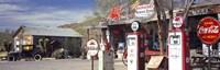 Gas Station on Route 66, Hackenberry, Arizona Fine-Art Print