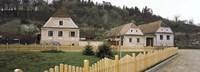 Houses in a village, Biertan, Transylvania, Mures County, Romania Fine-Art Print